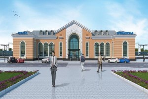 Там має виглядати вокзал у Краматорську після реконструкції.