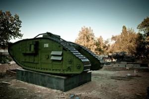 Сторічні англійські танки в Луганську