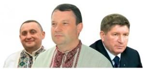 Богдан та Ярослав Дубневичі (зліва і в центрі) робили мільярдний гешефт з директором