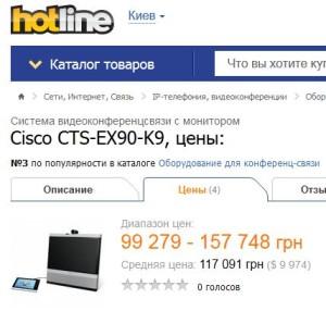 """""""Ощадбанк"""" придбав відеотермінали CTS-EX90-K9  по 267 113 грн"""
