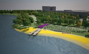 Донецька влада ще рік тому планувала, що реконструюваний парк виглядатиме так.