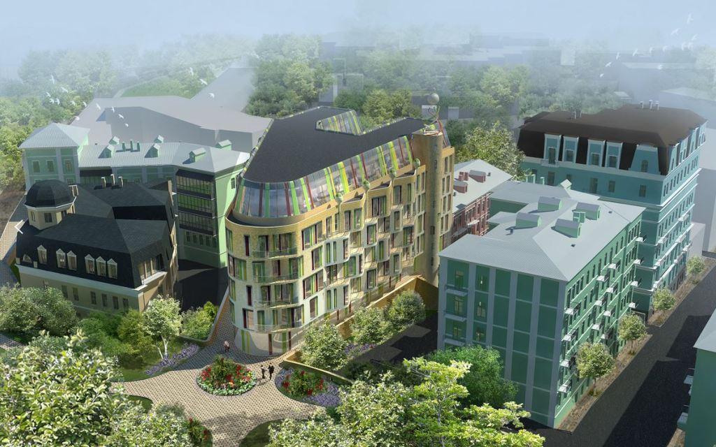 Проект апарт-готелю «Михайлівський» на замовлення ТОВ «Грін плаза»