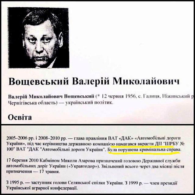 Це справді частина біографії Вощевського, яку роздали народним депутатам перед голосуванням за призначення віце-премєра.