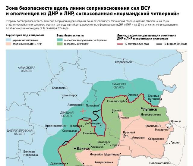 карта граница днр