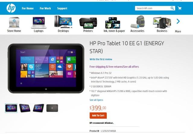 Ці планшети «Хьюлет Пакард» продає на своєму сайті більше ніж вдвічі дешевше від тих, які захотів Держінформюст. Різниця лише у одній з двох фотокамер планшету – на фото має 5-мегапіксельну, а на тендері захотіли 6 МП.