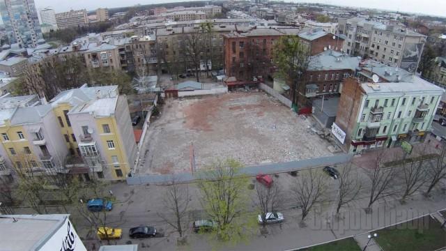 """…А так нині виглядає місце, де стояв готель """"Київський"""""""