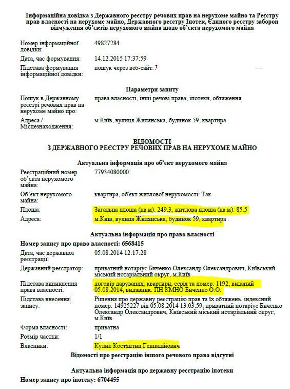 СКРIН КУЛИК КВАРТИРА 1