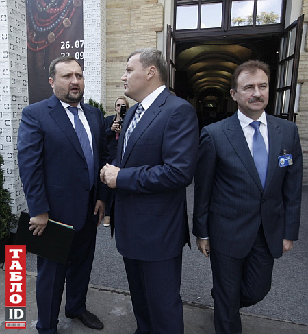 Андрій Кравець між Олександром Клименком і Олександром Поповим