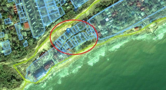 Місце розташування Кушніренком частки бази відпочинку, якою володіє його дружина. Орендовану земельну ділянку під будинком площею 0,0247 га суддя задекларував.