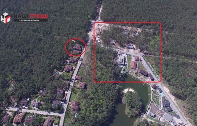 Маєток Луценків та вирубаний ліс