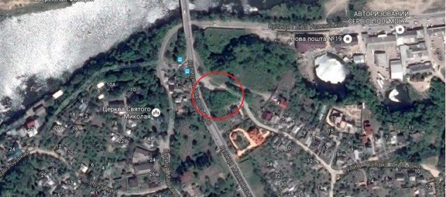 Земельні ділянки подружжя Ткачів на розі вулиці Маяковського та Замкової у Вінниці