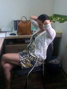 Старший прокурор прокуратури Суворовського району Одеси Емма Михайлова під час затримання.