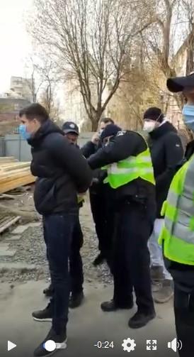 Поліція оштрафувала за Порушення карантину протестувальників проти незаконної забудови Зубика (фото)