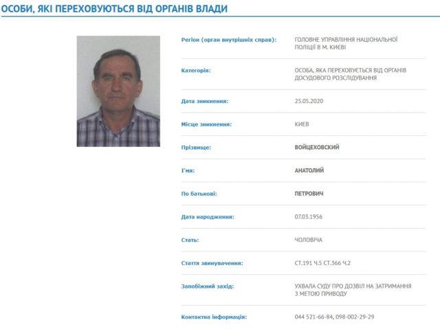 Поліція не змогла заочно взяти під варту організатора «Укогруп» Войцеховського, який втік у Польщу